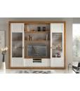 Wohnwand aus Eschenholz mit Schiebetüren
