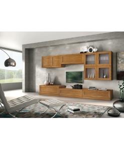 TV-Wohnwand aus Eschenholz