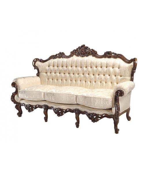 Sofa 3 Sitzplätze mit Sitzkissen, Art.-Nr. MS-BL3