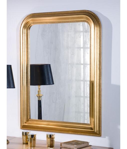 Klassischer Spiegel in Goldblatt