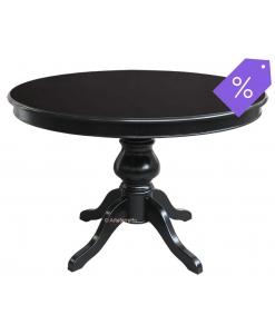Tisch Schwarz rund aus Holz