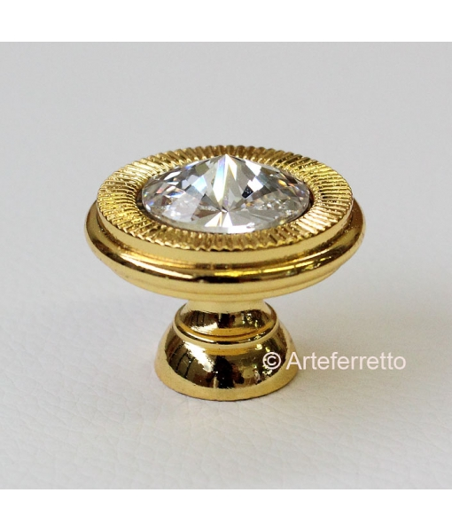 Knöpf in Gold mit Swarovski, Art.-Nr. C19-SWA