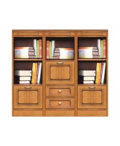 Anbauwand Bücherregal aus Holz