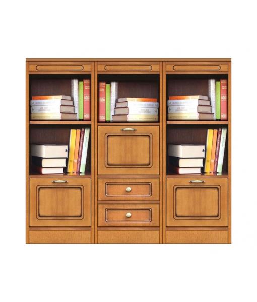 Anbauwand Bücherregal aus Holz, Art.-Nr.  COMPOS-3D