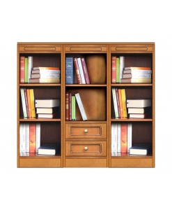 Anbauwand Bücherschrank niedrig