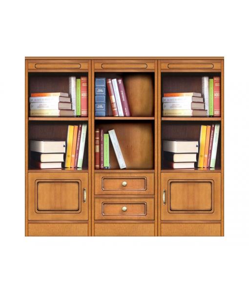 Wohnwand Bücherregal niedrig, Art.-Nr. COMPOS-3A