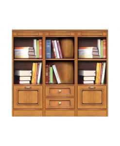 Wohnwand Bücherregal niedrig