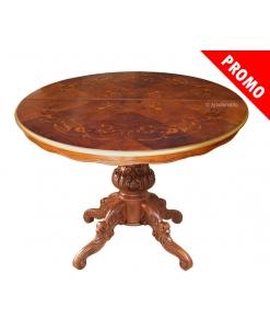 Tisch mit Intarsie ausziehbar