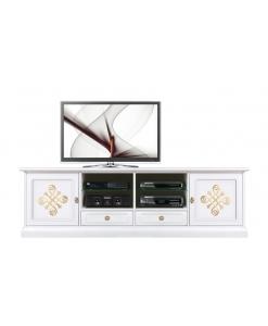 Lowboard TV Weiß Gold
