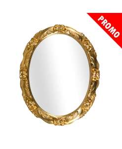 Spiegel Oval Blattgold