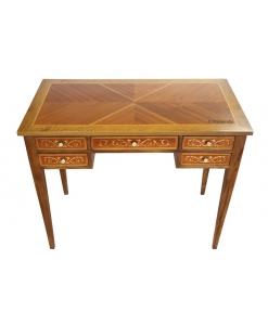 Schreibtisch mit Intarsien