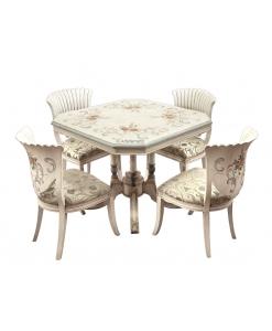 Essgruppe Tisch und 4 Stühle Einzelstück