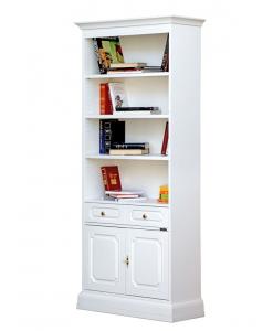 Bücherregal Weiß Holz klassisch