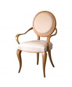 Stuhl runde Lehne aus Massivholz