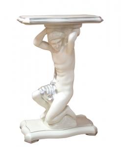 Gueridon Tisch mit Holzfigur