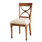 Stuhl mit gearbeiten Beinen, klassischer Stuhl