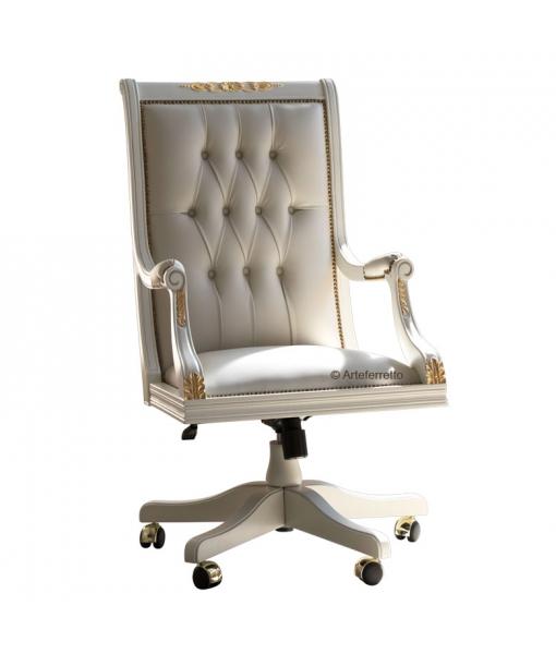 Büro Drehsessel in Leder klassisch, Art.-Nr. Golden-queen