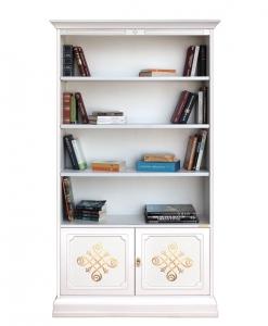 Bücherregal aus Holz goldenen Friesen