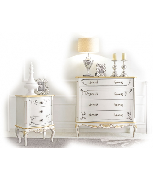 schlafzimmer kommode in wei white gold frank m bel. Black Bedroom Furniture Sets. Home Design Ideas