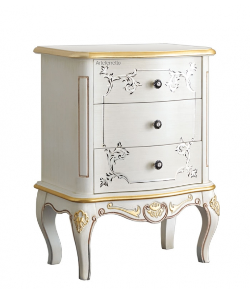 Nachttisch Weiß Gold, Art.-Nr. A217-V