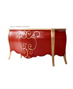 Anrichte Sideboard, Rotes Sideboard