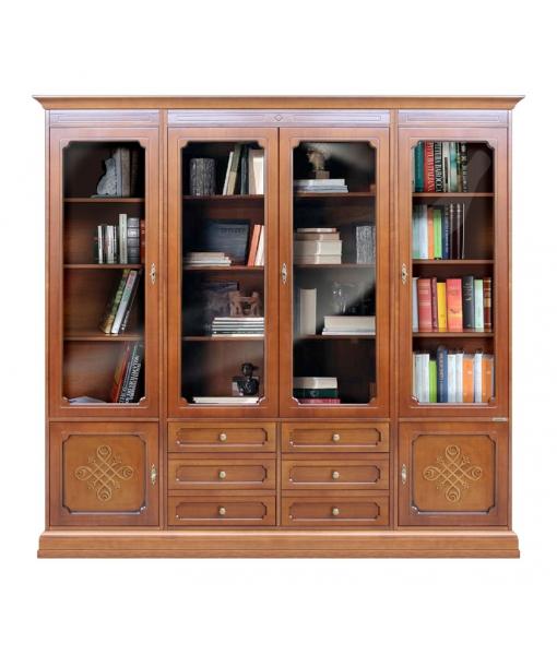 Anbauwand mit Bücherregal, Art.-Nr. 3215-YOU