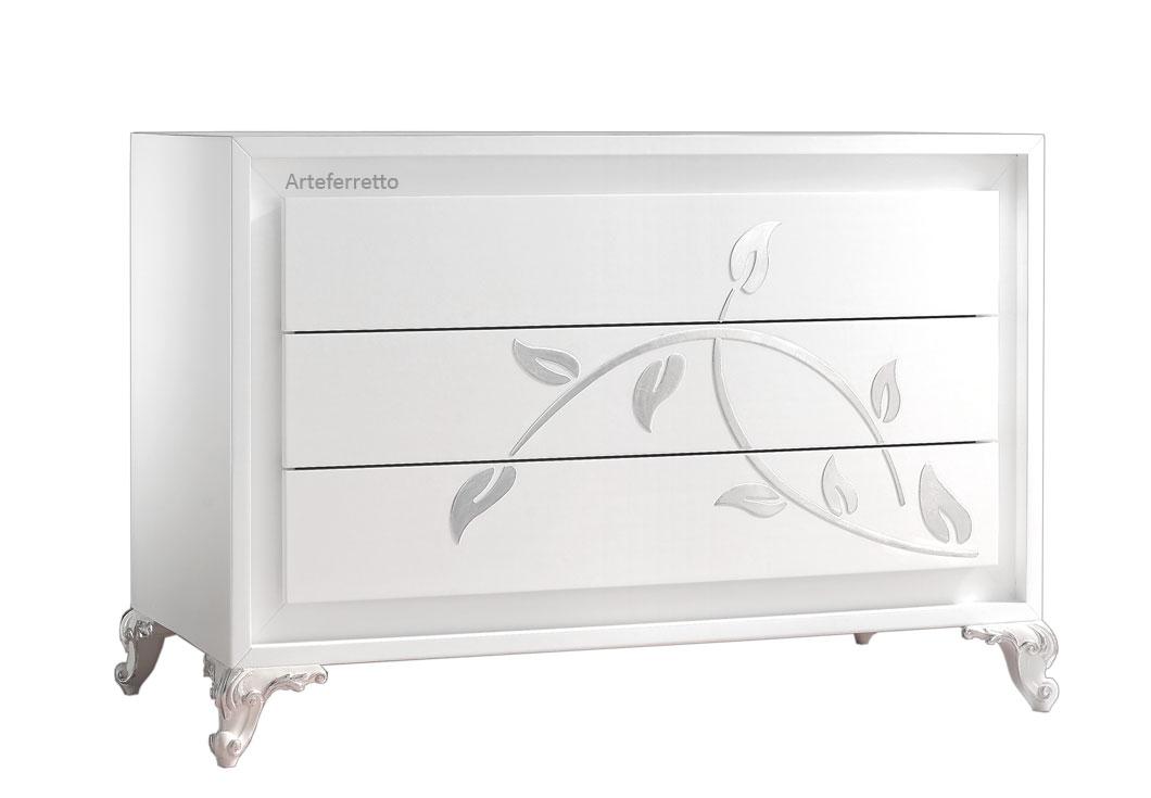 rechteckige kommode mit f en silverate frank m bel. Black Bedroom Furniture Sets. Home Design Ideas