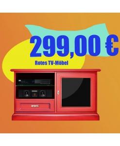 Roter TV-Schrank