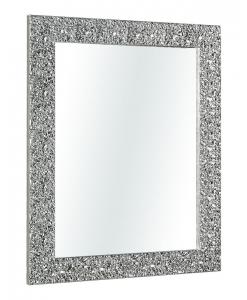 Spiegel mit Holzrahmen in Silber