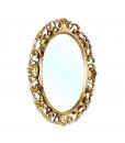 Spiegel oval Goldblatt