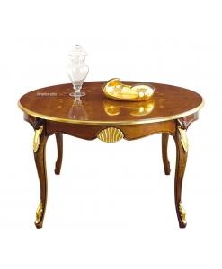 Runder Tisch mit Intarsien
