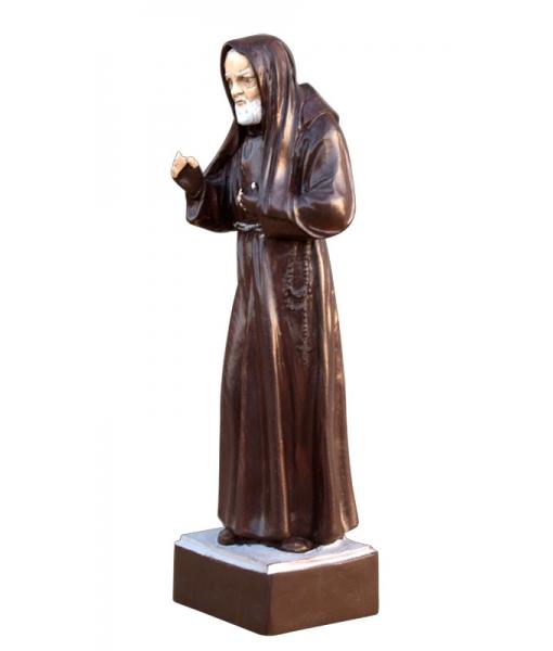 Holzschnitzerei Heiliger Pio von Pietrelcina PPio-01