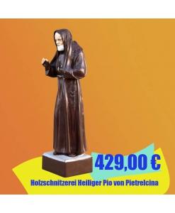 Holzschnitzerei Heiliger Pio von Pietrelcina