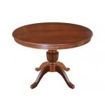 Ausziehbarer runder Tisch, Runder Tisch