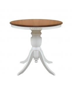 Couchtisch zweifarbig, Kleiner Tisch rund
