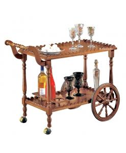 Klassischer Servierwagen mit Flaschenhaltern
