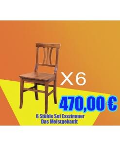 6 Stühle Set Esszimmer