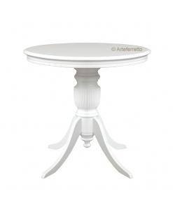 Tisch aus Holz, runder Tisch