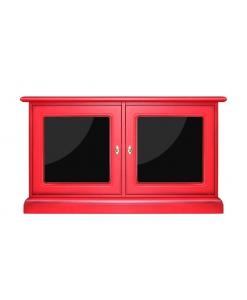 rote kleine Anrichte, kleines Möbelstück