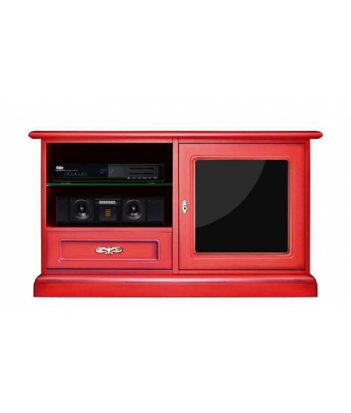 Roter TV-Schrank art. 3836-RED-PLEX2