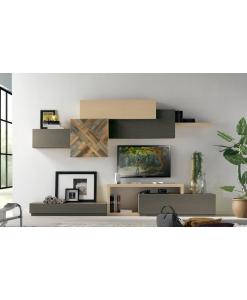 Wohnwand Holz Design