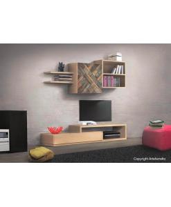 Wohnwand aus Holz, Wohnwand Made in Italy