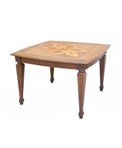 Intarsien Tisch, quadratischer Tisch