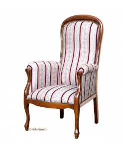 Bequemer Sessel, Sessel Voltaire aus Italien