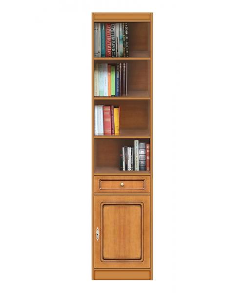 Bücherregal mit Holz Tür, Art.-Nr. EC-COM-M4