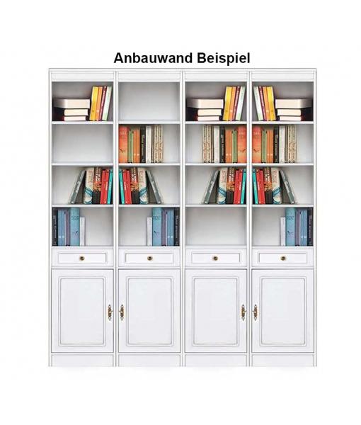 Wohnwand Bücherregal aus Holz