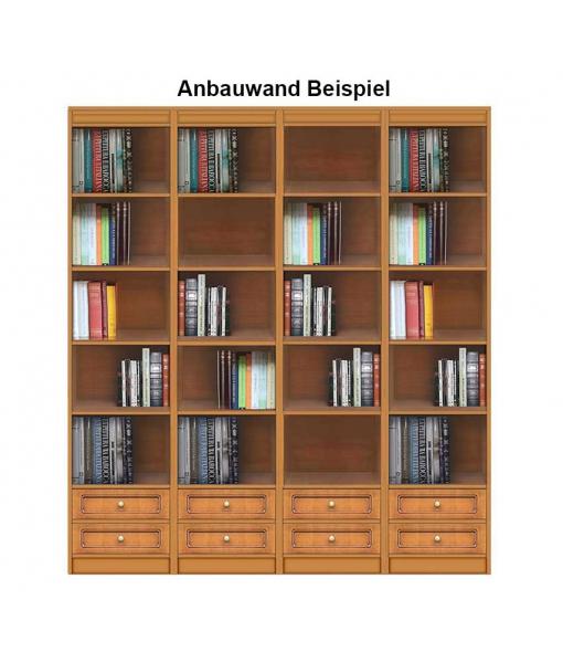 Bücherregal mit 2 Schubladen Anbauwand