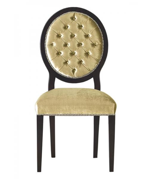 Stuhl mit Knöpfen gepolstert, Art.-Nr. L043-MS