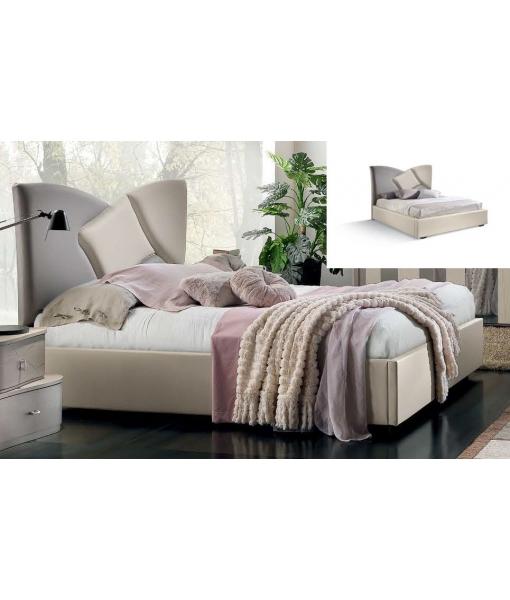 Doppelbett mit Polsterkopfteil, Art.-Nr. L34-FS