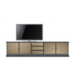 TV-Lowboard bronze Effekt